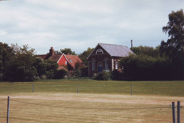 The cricket pitch at Clavering, Essex