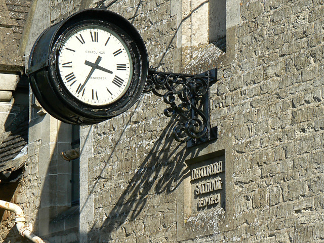 Clock, The Old School, Coates