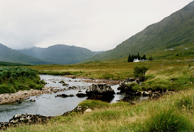 The River Dessary below Glendessary house