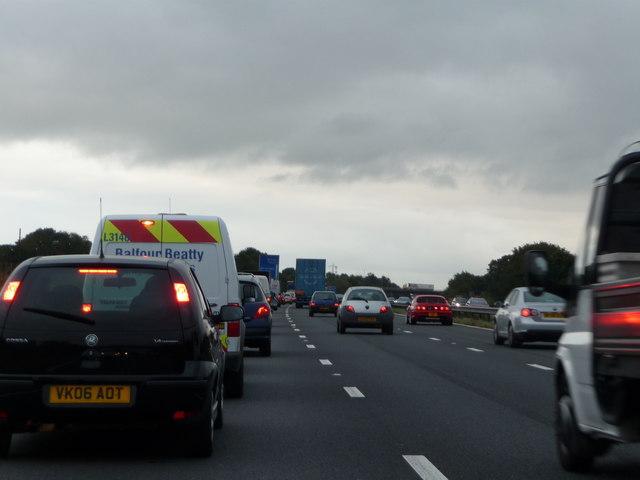 Mid Devon : Busy M5 Motorway