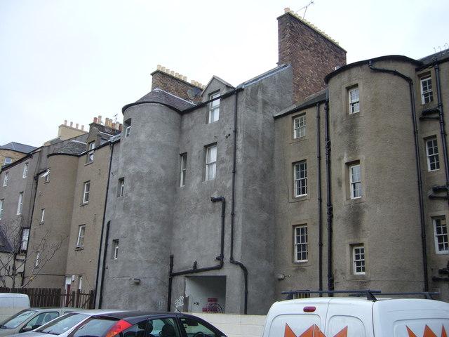 Nicolson Street, backs of houses