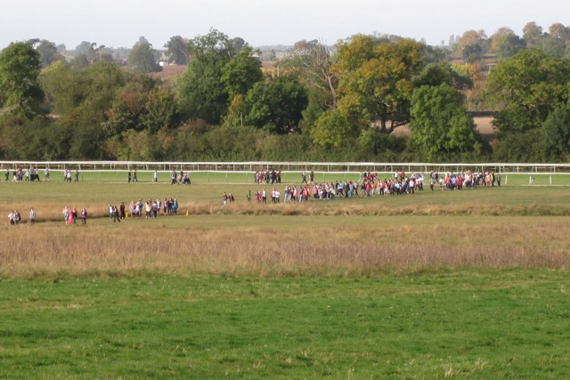 Charity walk, St Mary's Lands, Warwick