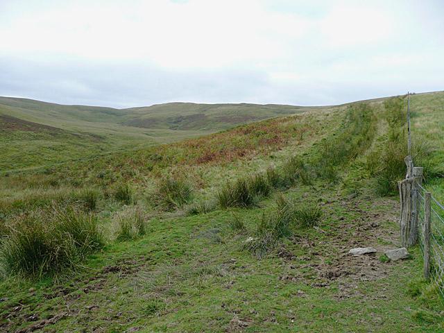 Moorland towards Esgair Fforch, Ceredigion
