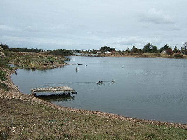 Ducks on the lake at Snettisham