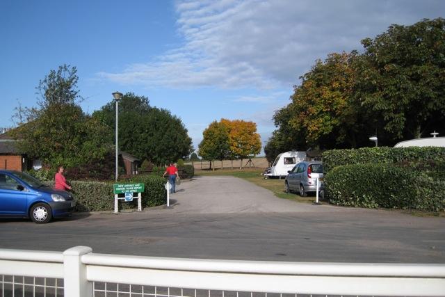 Touring caravan site, Warwick racecourse