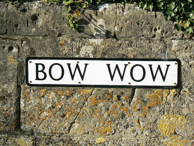 Bow Wow sign, South Cerney