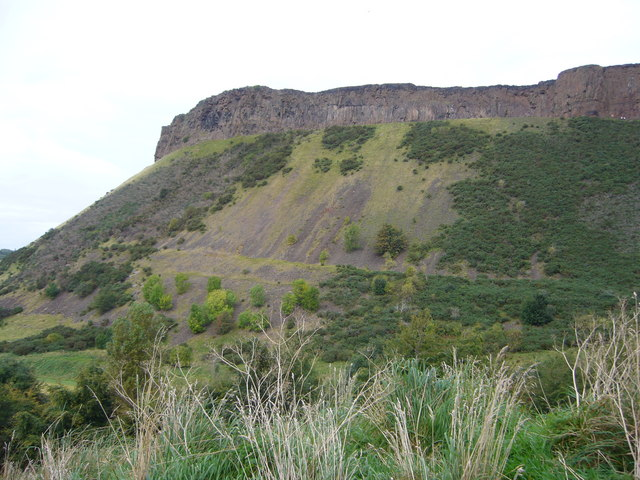 Salisbury Crags from St. Leonard's Bank