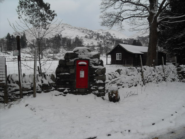 Postbox in wall