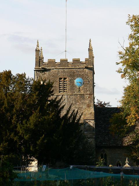 All Saints church tower, South Cerney