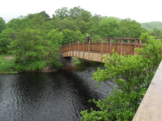 Footbridge over Callop River Glenfinnan