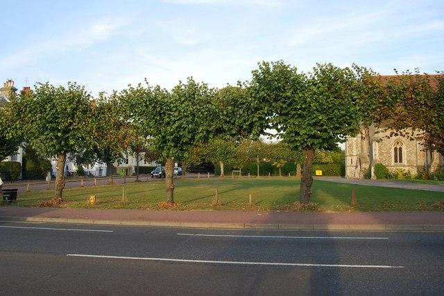 Open space outside St John's Church