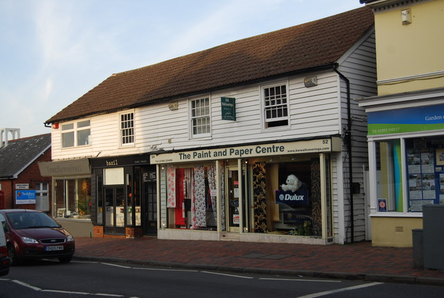 Kent Weatherboarded shops, St John's Rd