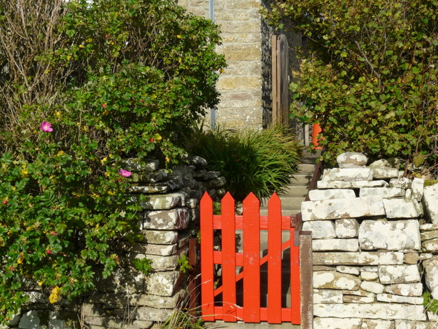 Red gate at Windwick