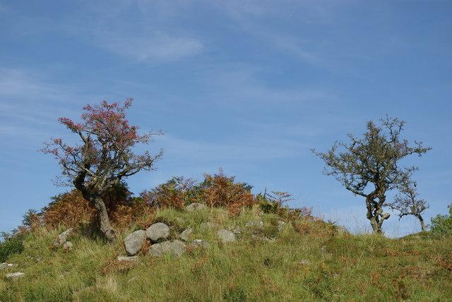 Kiln remains near Cruffock
