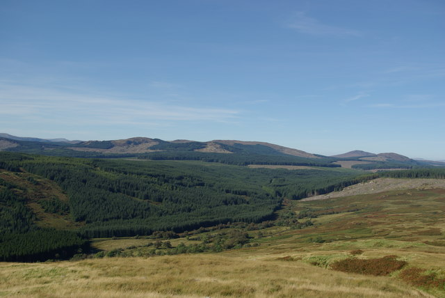 View from northern slopes of Doon of Culreoch
