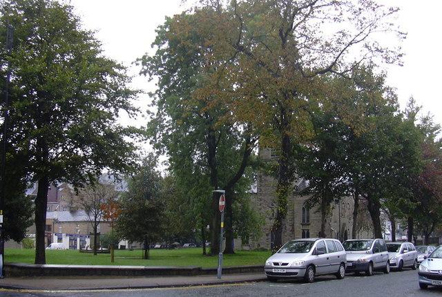 The Grounds of St James Church, Accrington