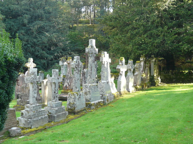 Gravestones at St Mary's, Eskadale.
