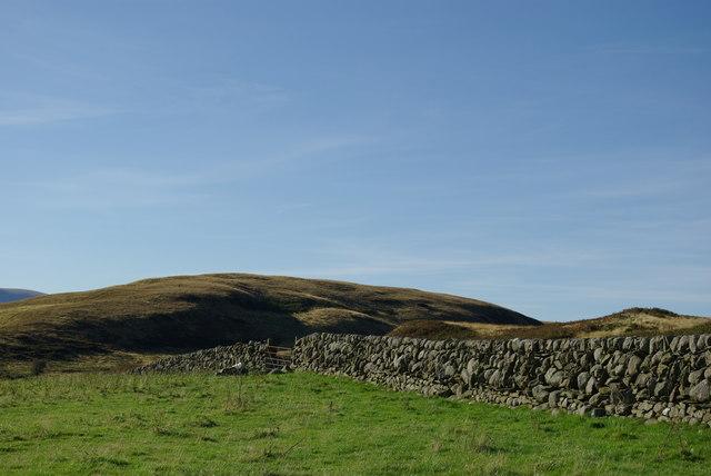 Drystane dyke on Black Hill