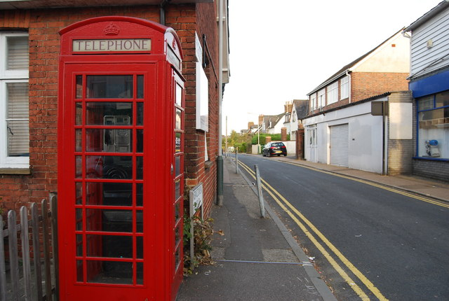 Telephone Box at the end of Newcomen Rd