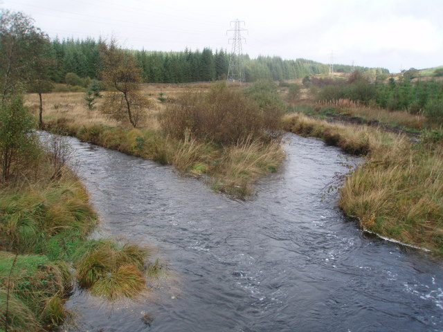 The Southern Upland Way crosses over the Garrary Burn