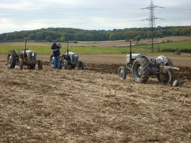 Little Grey Fergies Ploughing