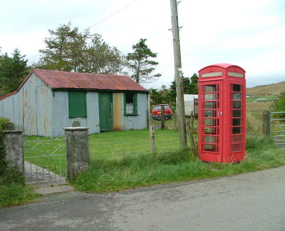 Telephone box at Eynort