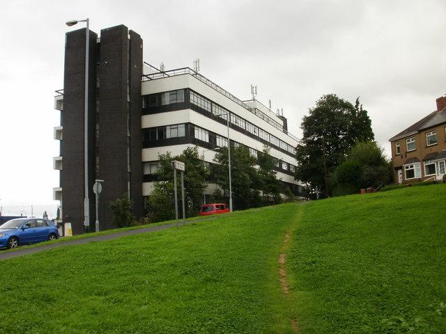 BT telephone exchange, Queen's Hill, Newport