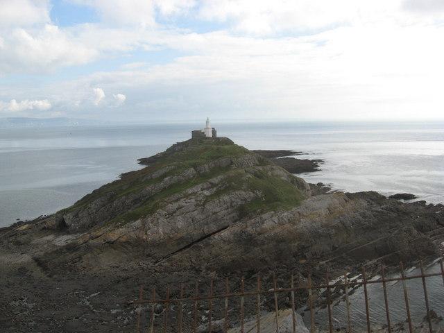 The lighthouse on Mumbles Head