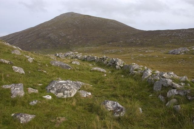 Ancient wall and Beinn Dubh