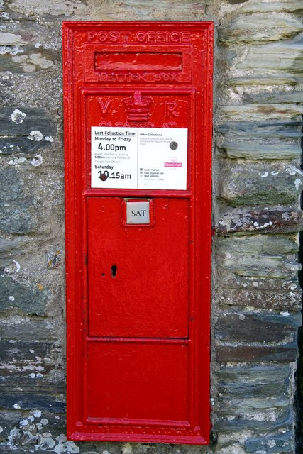Victorian postbox at Tintagel