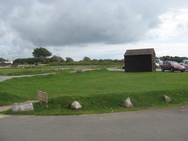 National Trust hut and car park at Southgate