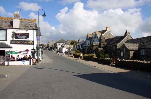 Fore Street in Tintagel