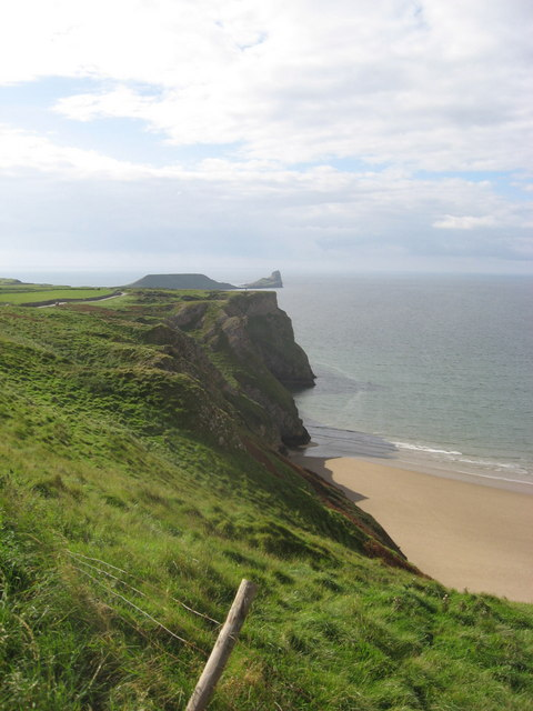 Old Castle Cliffs at Rhossili