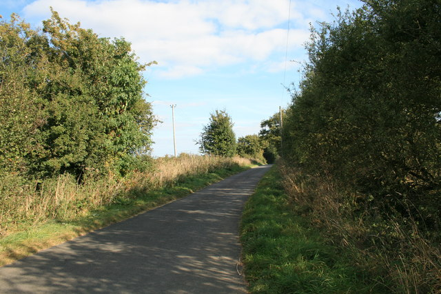 The road to Swinbrook