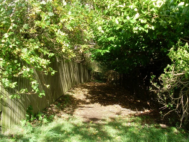 Barely visible public path