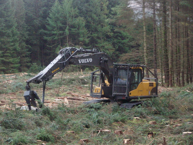 Volvo Harvester in Clatteringshaws Forest