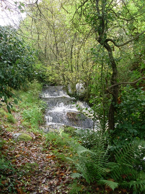 Waterfall by the path to Faifley