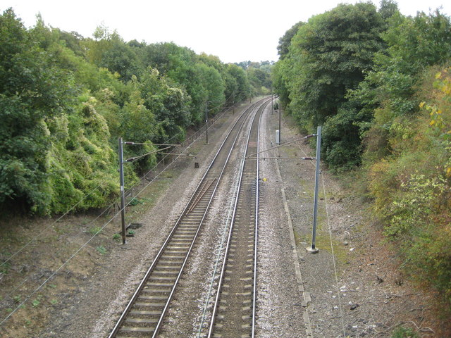 Waterford: Hertford Loop railway line