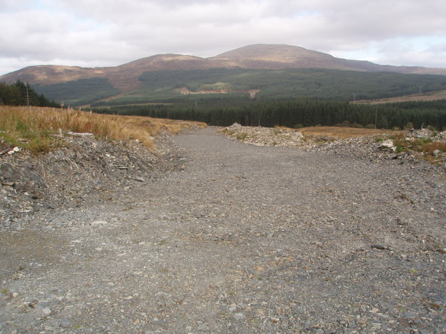 New Extraction Road west of Clatteringshaws Loch