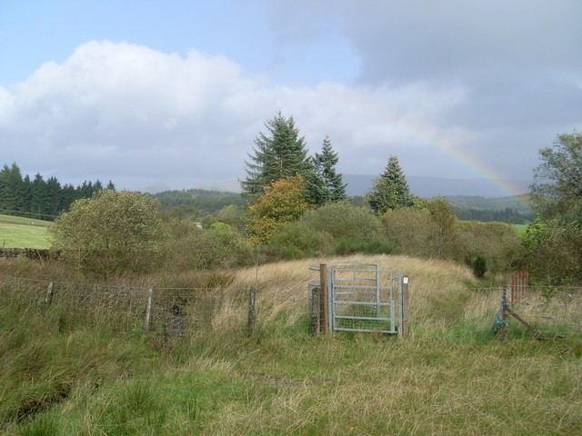 Gate on the footpath between Craigton and Faifley