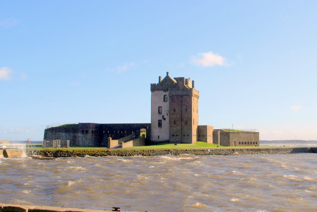 Broughty Castle on a very windy October day