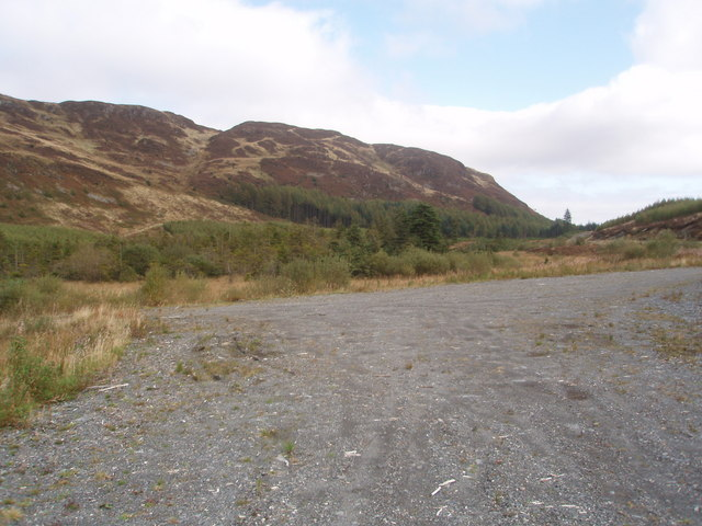 Terminal point of forest road near Lillies  Loch