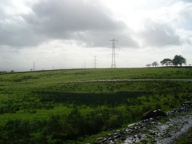Pylons in the Kilpatrick Hills