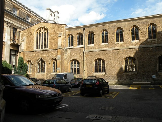 The east range of King's Old Court, Old Schools