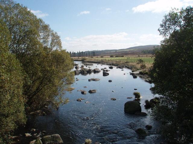 Black Water of Dee below the bridge leading to Barney Water