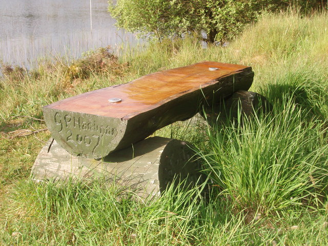 Commemorative Seat on the shores of Loch Brack