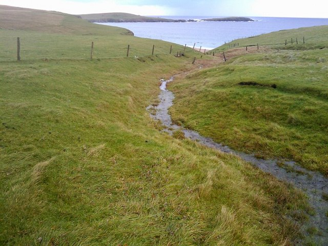 Small burn on the north side of Lamba Ness