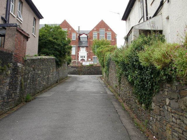 Entrance to St Mary's RC primary school, Newport