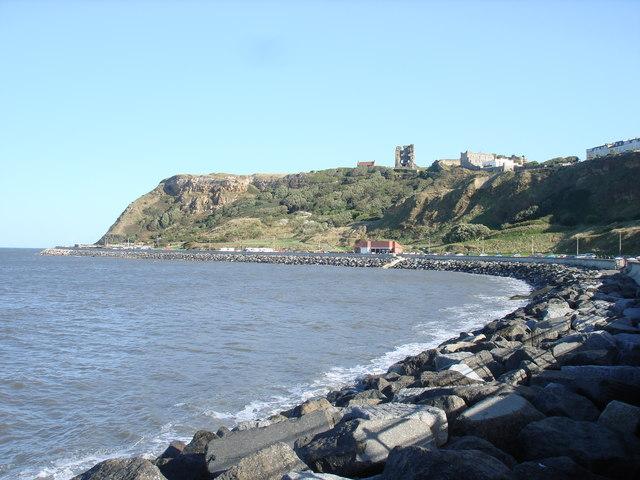 The headland & Scarborough castle