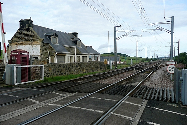 Wooden level crossing